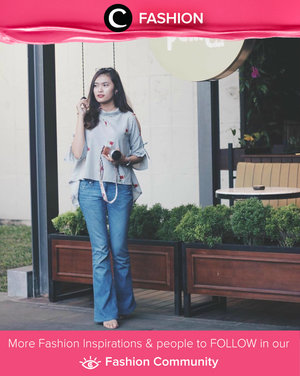Try flare pants and pair with asymetric top. Or you can pull it together with formal shirt and you've got a classic American look. Simak Fashion Update ala clozetters lainnya hari ini di Fashion Community. Image shared by Star Clozetter: @deniathly. Yuk, share outfit favorit kamu bersama Clozette.