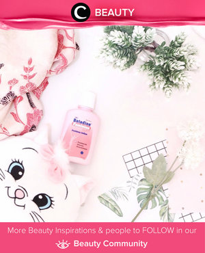 As a woman, we surely need to know how to take a proper care of our special part, Miss V. If you ever had some problem down there, here's Star Clozetter Ghina recent fav product: Betadine Feminine Hygiene. Simak Beauty Updates ala clozetters lainnya hari ini di Beauty Community. Image shared by Star Clozetter @ghinaaulia. Yuk, share beauty product andalan kamu.