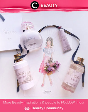 Sweet, feminine, floral all in one scent. This is the new L'occitane Terre De Lumiere. Simak Beauty Updates ala clozetters lainnya hari ini di Beauty Community. Image shared by Star Clozetter @steviiewong. Yuk, share beauty product andalan kamu.