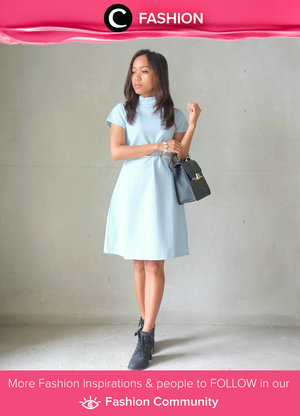 Keep it simple and casual: high neck dress in light blue and fave boots. Simak Fashion Update ala clozetters lainnya hari ini di Fashion Community. Image shared by Star Clozetterr: @sakuralisa. Yuk, share outfit favorit kamu bersama Clozette.