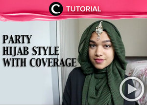 Let's trying out hijab party tutorial. See the tutorial here http://bit.ly/2lxFJEF. Video ini di-share kembali oleh Clozetter: @dintjess. Cek Tutorial Updates lainnya pada Tutorial Section.