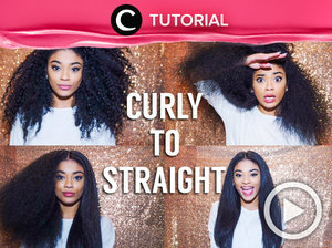 The easy way to change your curly to straight hair http://bit.ly/2tHw4A8. Video ini di-share kembali oleh Clozetter: @salsawibowo. Cek Tutorial Updates lainnya pada Tutorial Section.