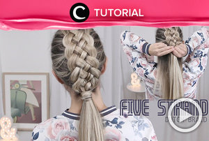 Beautiful Five (5) Strand Dutch Braid Tutorial hair http://bit.ly/2vHrzVW Video ini di-share kembali oleh Clozetter: @salsawibowo. Cek Tutorial Updates lainnya pada Tutorial Section.