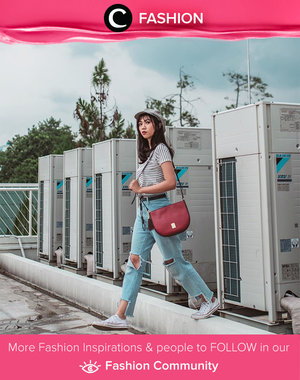 In the mood for stripes, ripped jeans, and sneakers. Simak Fashion Update ala clozetters lainnya hari ini di Fashion Community. Image shared by Clozetter @fitrins. Yuk, share outfit favorit kamu bersama Clozette.