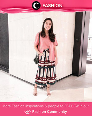 Culottes with patterns and a plain pink shirt. What could be more on point? Simak Fashion Update ala clozetters lainnya hari ini di Fashion Community. Image shared by Clozette Ambassador @wynneprasetyo. Yuk, share outfit favorit kamu bersama Clozette.