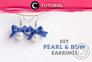 Earrings can be a statements accessori to completed your look. Let's create a DIY DIY Pearl & Bow Earrings http://bit.ly/2DecjW1. Video ini di-share kembali oleh Clozetter: @kyriaa . Cek Tutorial Updates lainnya pada Tutorial Section.