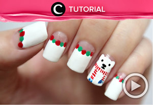 Winter / Christmas Nail Art! Polar Bear Wearing A Scarf http://bit.ly/2kS2FML.Video ini di-share kembali oleh Clozetter: @ranialda. Cek Tutorial Updates lainnya pada Tutorial Section.