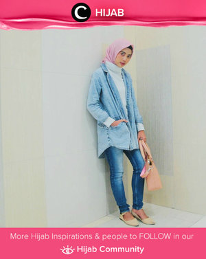 Denim on denim day. Let's add a cool-girl edge to your look. Simak inspirasi gaya Hijab dari para Clozetters hari ini di Hijab Community. Image shared by Star Clozetter: @mayafebrian. Yuk, share juga gaya hijab andalan kamu
