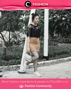 Fishnet stocking adds edge to any outfit, whether it's in sock, tights, shirt , skirt or even dress form. Simak Fashion Update ala clozetters lainnya hari ini di Fashion Community. Image shared by Star Clozetter: @gianciana. Yuk, share outfit favorit kamu bersama Clozette.