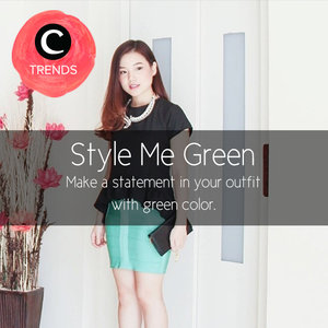 Make a statement in your outfit with green color. Find more inspiration here http://bit.ly/1GWmo6a. Atau cek juga kurasi dengan tema lainnya di sini bit.ly/ClozetteTrends