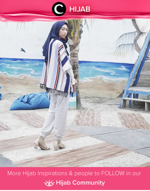 Stripes on blue vibes for today. Simak inspirasi gaya Hijab dari para Clozetters hari ini di Hijab Community. Image shared by Star Clozetter: @diannopiyani. Yuk, share juga gaya hijab andalan kamu