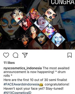 Yassss I made it into top 30 NYX Face Awards Indonesia 2017 @nyxcosmetics_indonesia  I'm so amaze how my world change because of fantasy makeup, a world that I never knew its exist 😂🤣😁 lol  Thank you for everyone who support me (i can't mention here, but u guys know who u r 😘), For my amazing model n friend @dream_chanokporn who make justice to this look ❤ U r the most humble soul I ever work with.... thank you for helping me 😘❤ This is not the end.. its another beginning, I can't wait for the next round... Once again humbly I say thank you thank you thank you..... 🙏❤🇲🇨💋🎉✌🏼 SO!!! Any videographer wants to work with me in my studio for my next challenge????? PM me if you interest 😉❤😊 #starclozetter #clozetteid #nyxcosmetics #FACEAwardsIndonesia #NYXCosmeticsID #indonesianlivinginbangkok #indonesianmakeupartist #instamakeup #nyx