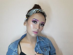 [Demi feeds ya bro sis] 💖 PINK UP PUNK 💖  FACE  @caringbybiokos_mt Timeless Illuminate BB Cream @nyxcosmetics_indonesia Full Coverage Concealer @absolutenewyork_id HD Cover Stick @nyxcosmetics_indonesia Stay Matte But Not Flat @gobancosmetics Illuminating Highlighter (Bronze Nebula)  BROW @makeoverid Eyeliner Pencil (Posh Purple) @nyxcosmetics_indonesia Liquid Suede (Pink Lust)  EYES @nyxcosmetics_indonesia Liquid Suede (Pink Lust) Okalan Double Exposure @nyxcosmetics_indonesia Vinyl Liquid Liner @absolutenewyork_id Cotton Candy Liners (Sugar Plum)  LIPS @nyxcosmetics_indonesia Lingerie (Ruffle Trim) @nyxcosmetics_indonesia Liquid Suede (Pink Lust) . . . . . . . . . . . . . . #makeup #makeuptutorial #makeupvideos #makeupvideo #dailymakeup #makeuproutine #beautyguru #mua #makeupartist #tutorial #clozetteID