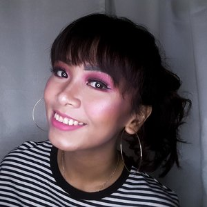 PINK! 💖 . . FACE  @catrice.cosmetics All Matt Foundation @maybelline Fit Me Concealer @absolutenewyork_id HD Cover Stick @byscosmetics_id Loose Banana Powder @nyxcosmetics_indonesia Ombre Blush @gobancosmetics Stardust Highlighter  EYES  @makeoverid Trivia Eyeshadow ( Indian Summer ) @makeoverid Eyeshadow Palette ( Nudes ) @revlonid Black and Silver Eyeliner  LIPS @maybelline The Powder Matte ( Touch of Nude ) . . . . . . . . . . . #makeup #makeupvideos #makeupvideo #dailymakeup #makeuproutine #beautyguru #mua #makeupartist #tutorial #indobeautygram #tutorialmakeup #ivgbeauty #indbeauty #clozetteID #indobeautygram #tutorialmakeup #ivgbeauty #beautyvlogger #beautyenthusiast #indobeautyblogger #indobeautyvlogger #makeuptutorial #makeuplook #wakeupandmakeup #indovidgram #bunnyneedsmakeup #beautiesquad #beautybloggerindonesia @indobeautygram @beautybloggerindonesia @beautiesquad