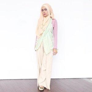 My pastel #ootd 💞..#clozetteid #starclozetter #ootdhijab #hijabootdindo #hijabers #ggrep #beautynesiamember #pastel