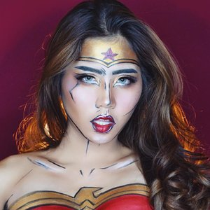 🔥🔥🔥supa hot wonder woman🔥🔥🔥 inspired by mommy @nikkietutorials and every wonder woman pict that I googled  See the make up deeds on my previous post💖 . 📸 SONY A6000 Eyelash from @lashandluxe Softlens Eye Candy Bulle Blue Gray . #ivgbeauty #indobeautygram #wonderwoman #wonderwomanmakeup #nyxcosmetics #nyxcosmeticsid #beautynesiamember #clozette #clozetteid #lagirlindonesia #lagirl #lagirlcosmetics #beautyjunkie #beautyjunkies #instamakeupartist #makeupporn #makeuppower #beautyaddict #makeuptutorial #beautyenthusiast  #makeupjunkie #makeupjunkies #beautyvlogger #wakeupandmakeup #hudabeauty #featuremuas #undiscovered_muas #bretmansvanity #livjunkie #itsmylookbook