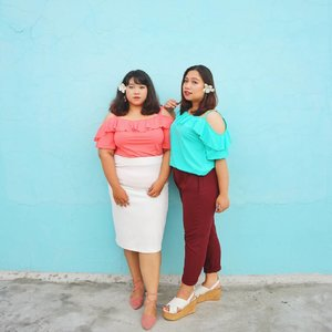 We match our lippie with our outfit color. @reginapitupulumatch her lippie with her pants and I match my lippie with my top 😄...We are both wearing Such a Tease tops from @koozel.id My skirt is also from @koozel.idit's called Go Slay and they are available in white and black color...#endorsement#endorsementid #endorsementindo #endorsersby #ootd #ootdbigsize #ootdbigsizeindo #fashion #cute #ootdplussize #ootdcurvy #ootdplussizeindo #ootdbigsizeindo #curvy #clozetteid #blogger #bblogger #beautyblogger #surabayabeautyblogger #sbybeautyblogger #curvygirl #plussize#bodypositive #celebratemysize #ootdindonesia #ootdindo #curvystyleideasid #influencersurabaya #beautyhasnosize