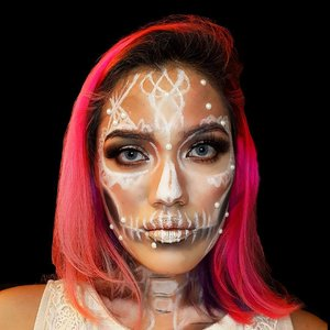 Recreated @ellie35x 's #skull Butterfly Bride for my first #halloweenmakeupI know it's far from perfect, but I still got lots of sleepless night to practice 😂Products used:Face:-@nyxcosmeticsnl Total Drop Foundation (Natural)-@lagirlindonesia Pro Conceal-@sleekmakeup solstice highlighting paletteEyes:-@sleekmakeup iDivine Ultra Mattes v.2 palette-@absolutenewyork_id Icon Eyeshadow Palette (Twilight)-@benefitnetherlands They're Real Mascara-@maybelline Hypersharp Power BlackLips: @bobbibrownid Long Wear Cream Shadow Stick (Golden Pink)Details:-@nyxcosmeticsnl Jumbo Eye Pencil (Milk)-@sleekmakeup iDivine Ultra Mattes v.2 palette#nyxcosmeticsnlhalloween #nyxcosmeticsnl#LYKEambassador #ClozetteID #skullmakeup #wakeupandmakeup #makeupaddict #beautyblogger #beautybloggernl #asianbeautyblogger #indonesianbeautyblogger #hudabeauty #bloggerbabes #MOTD #selfie #LOTD #bblogger #pinkhair #mermaidhair #nyxcosmeticsID