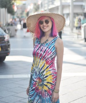 #TieDye dress for a colorful #summerDress from mertua @rizya_h#LYKEambassador #clozetteid #clozettedaily #clozetter #OOTD #OOTDID #ootdindo #OOTDIndonesia #ootdidku #lookbook #lookbookindo #fashion #FOTD #MOTD #beautyblogger #asianbeautyblogger #indonesianbeautyblogger #bblogger #fblogger #streetstyle #fashionblogger #beautybloggerindonesia#style #fashionista #picoftheday #pinkhair #mermaidhair