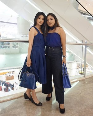 Blue outfit for today's event with my cici @rlinachang ✨ ...#ootd #outfitoftheday #beautyevent #beauty #beautyblogger #beautyenthusiast #fashion #fashionstyle #style #blueoutfit #clozetteid #thesaemid