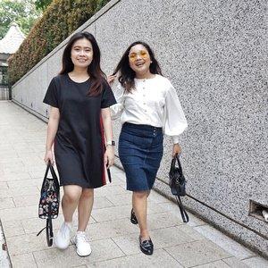Happiness is the secret to all beauty. There is no beauty without happiness - Christian Dior - ...#ootd #outfitoftheday #beautysecret #beauty #happy #happiness #clozetteid #ootdindo #lookbook #lookbookindonesia #friendship #sister