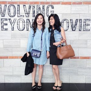 Movie date with ma #denim buddy (and others but they just weren't in the picture) 😎 #clozetteid #motherdaughter #ootd #whatweweartoday