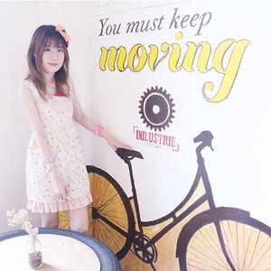 Life is like riding a bicycle. To keep your balance, you must keep moving.  #clozetteid #kawaiifashion  #harajuku