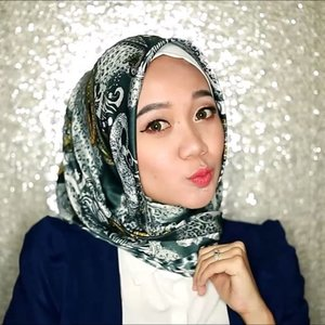 Youtube video for this hijab satin tutorial is up!Link youtube di bio aku ya @helloolaayu ...Simple, gampang, cuma 30 detik 💋