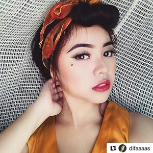 Simple pin-up girl makeup look 💖 #diFACEbeauty #makeubydifa ・・・ #indobeautygram #beautybloggerid #makeuplooksworldwide #beautybloggerindonesia #bvloggerid #beautytalkindo #indobeauty #beautygram #makeupinspiration #inspirasimakeup #makeupenthusiast #makeupaddict #makeuplook #motd #wakeupandmakeup #makeupart #muapandeglang #pinup #pinupgirl #pinupmakeup #pinuplook #simplepinup #clozetteid