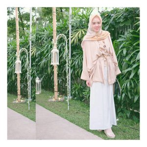 Style Inspiration : Mixed my Kutubaru with Kulot Pants.. Suitable for Outdoor Wedding Reception.. #ootd #hijabstyle #hijabdaily #clozetteid #clozetteambassador #riamirandastyle #riamirandasignaturescarf