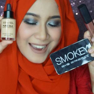 Hai.. assalamualaikum girls.. . Kira-kira dua minggu lalu aku main ke studionya @byscosmetics_id di Plaza Senayan.. Thank you @clozetteid for the invitation.. . Aku buat tutorial & review BYS Smokey On The Go Palette, BYS pure silk serum foundation, dan BYS Velvet Lips Liquid Lipstick di Youtube Channel aku.. . . Ini link nya : https://youtu.be/bHeSYjBa6bo . Or click on my bio.. #BYS #BYSIndonesia  #BYSxClozetteIDReview #ClozetteIDReview #ClozetteID #makeup
