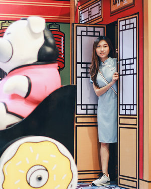 Yesterday exploring cute photobooth <slide for more cuteness!> at @mrkt_ while wearing Cheongsam dress from @clyvofficial ⛩🎏 FYI, you can get 10% OFF for all Cheongsam Collection from @clyvofficial ✨ #clozetteid #mrkteverywhere #ootdindo