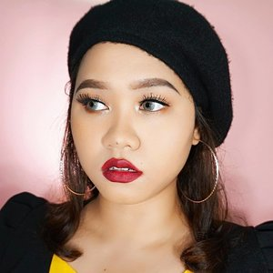 💋Feeling not confident with bold lipstick, but this colour is the exception! Loving this maroon purple tone colour!Lipstick used:@purbasarimakeupid Color Matte Lipstick shade 82 Mirah--------------------------@beautygoers @indobeautygram @beautybloggerindonesia @bunnyneedsmakeup @wakeupandmakeup @amabiebeauty @clozetteid  @beautiesquad @indobeautysquad @setterspace #BeautygoersID #tampilcantik #ragamkecantikan #clozetteambassador #indobeautygram #ivgbeauty #dailymakeup #makeuptutorial #wakeupandmakeup #amabiebeauty #clozetteid #purbasarilipstik #makeuptutorial