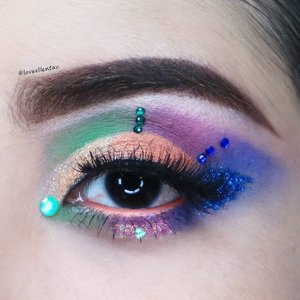 Vibrant colour 💖  Ditambah rhinestone dan glitter ✨ ------------------------------------------ @viva.cosmetics eyebrow pencil in brown @kleancolor frameous tinted eyebrow  @morphebrushes 35c @altheakorea Witch Pouch Selfie Pigment in Follow Me @bhcosmetics Take Me to Brazil  @maybelline The Hyper Curl Mascara @nyxcosmetics_indonesia JEP in Milk @godiossa Eyelash  #eotd #fdbeauty  #clozetteid  #lucinda212 #maybelline  #anastasiabrows #ivgbeauty #semarangvidgram #makeuplover #wakeupandmakeup #indobeautygram #makeupaddict #amazingmakeupart #anastasiabeverlyhills #belajarmakeup  #tutorialmakeup #makeupvideo #discover_muas  #suvabeauty #beautygram #beautyvlog #indovidgram #instamakeup #tipsdandan  #tipsmakeup #makeupartist #makeuptips #indonesiabeautyvlogger