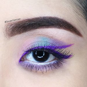 Soft pastel look 💖 with purple line ✨✨✨✨ -------------------------------------------------------- @morphebrushes 35c palette @lagirlindonesia Matte Flat Finish Pigment Gloss in Stunner for the liner  @nyxcosmetics  JEP in Milk @maybelline The Hyper Curl Mascara @ellashindonesia in Nora 💖  #eotd #fdbeauty  #clozetteid  #lucinda212 #maybelline  #anastasiabrows #ivgbeauty #nyxcosmetics #makeuplover #wakeupandmakeup #indobeautygram #makeupaddict #amazingmakeupart #anastasiabeverlyhills #belajarmakeup  #tutorialmakeup #makeupvideo #discover_muas  #suvabeauty #beautygram #beautyvlog #hypnaughtymakeup #instamakeup