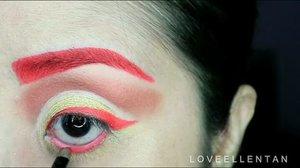 Happy Lunar New Year 🐔🎉🎉 MUA Luxe velvet in Atomic from @kutekmurah 💕  Kupakai untuk alis, eyeliner, mascara dan bikin ornamen 😍 warna merah cerah cakep banget. Cocok untuk tema sincia.  Untuk waterline q pakai @nyxcosmetics lalu aku tumpuk dengan eyeshadow merah dari @morphebrushes. Kalau kamu gak punya eyeliner warna kamu bisa coba cara ini.  Ini yang selalu aku lakukan kalau pengen pakai eyeliner warna warni di waterline.😊😊 Enjoy 😘😘😘 @universalhairandmakeup  @makeuptutorialsx0x @makeupvideoss @makeup_clips @indobeautygram @indovidgram @wakeupandmakeup @hudabeauty #eotd #fdbeauty  #clozetteid  #makeupartistworldwide #maybelline  #anastasiabrows #ivgbeauty #makeupclips  #nyxcosmetics #lookamillion #makeuplover #wakeupandmakeup #dressyourface #indobeautygram #makeupaddict #makeupgeek #amazingmakeupart #anastasiabeverlyhills #undiscovered_muas #indovidgram #tutorialmakeup #makeupvideo #bhcosmetics #discover_muas  #suvabeauty #beautygram #beautyvlog #hypnaughtymakeup #instamakeup