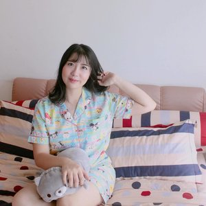 Enjoy your saturday afternoon💞 Tsum-Tsum pajamas from @pajamasglory 💗🐹 . . . . #clozetteid
