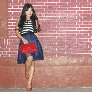 Stripes in red and blue :)Photocred: Nikho#ootd #ootdmagazine #stripes #tutuskirt #redbag #redshoes #red #redbrick  #photoshoot #photoshot #fashiondiaries #fashion #fashionista #fashionid #aboutalook #instastyle #clozetteID #formaldaily #ClozetteAmbassador @clozetteid #lookbookindonesia @lookbookindonesia #beritafashion