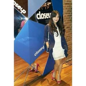 From Close Up #DiamondSmile \o/  #ootd #closeup #launching #event #fashion #fashionista #fashionid #instastyle #coat #whitedress #redshoes #clozetteid @clozetteid