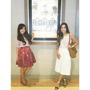 Filosofi Kopi - Gala Premiere~Imho, this is the best adaptation movie from Dee Lestari's book <3You'll fall in love in the mysterious way with Ben's character :) #ootd #ootdindo #ootdmagazine #galapremiere #FilosofiKopi #movie #adaptation #deelestari #book #dewilestari #marischkaprue #kannahskirt #red #striped #stripes #stripeshirt #red #redshoes #fashion #fashionista #lookbookIndonesia #beritafashion #clozetteambassador #clozetteid @clozetteid