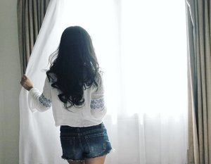 What's next, God? I still don't know the answer... We're still talking... #answer #whatsnext #girl #woman #ootd #sotd #denim #jeans #shortjeans #topsleeve #room #photography #photooftheday #photograph #instagood #clozetteid #clozetteambassador