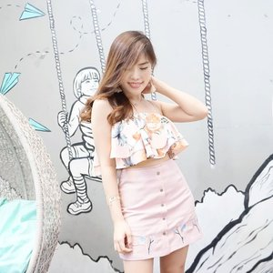 Pink summer with @zaful 's floral printed crop top 💕. - #ootd #fashion #collaboratewithcflo #ClozetteID