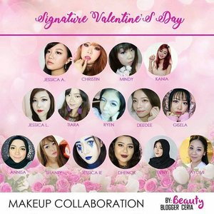 So happy can joined makeup collaboration in this lovely month with @bloggerceriaid .  #bloggerceriamakeupcollaboration #valday #makeup #blogger #bloggerceria #motd #makeup #beauty #blogger #beautybloggerindonesia #beautybloggerid #potd #clozetteid #photography #pictureoftheday #anastasiabeverlyhills #thebrowgal #morphebrushes #makeupforever #beautybox #like4like