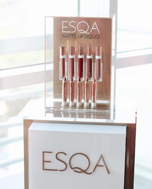 Got my lipstick fever @esqacosmetics 😍 one of the best local lipstick I've tried so far. They comes in 10 pretty colors of matte lip liquid and satin lip crayon. I'm in love with both of it! Its really smooth, easy to apply and not drying on my lips. Plus its vegan, free paraben, and nourished with Vit E. So its really good and healthy for lips 👄#ESQAddiction #ESQAXBeautynesia #beautynesiamember #beautynesia #clozetteid