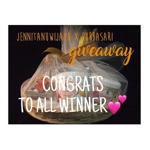 So here's the winner of #jennitanuwijayaxpurbasari 💕 send me your address, phone number, and name via dm. congrats to all of you and thanks for participating guys! Yang belum beruntung jangan sedihh masih banyak giveaway lainnya 💕  Unfollowers will be blocked and can't participate on my next giveaways. . . . . . . . . . #indobeautyblogger #indofemaleblogger #beautiesquad #clozettedaily #clozetteid #announcement #jennitanuwijayagiveaway #purbasarigiveaway #influencer #socialmediamanager