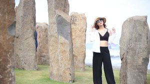 Stand strong with the standing stones.  #ClozetteID #OOTD #Lifestyle #Travel #Traveling #Bali #StandingStones