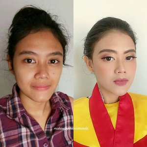 Yesterday's makeup for Ace! Congraduation beauty! 💖 Swipe for details💖💖 #makeupbykhansamanda #makeupbykhansa . . . . . . . . . . . . . . . . . . .  #clozetteid #beautynesiamember #makeup #thepowerofmakeup #makeupwisuda #makeupartist #graduationmakeup #wisudaui #wisudaui2017 #bridalmakeup #weddingmakeup #naturalmakeup #youtuber #makeupartistdepok #makeupartistjakarta #MUADEPOK #MUAJAKARTA #MUABOGOR #MUA #hudabeauty