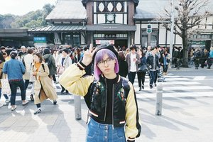 Another #japan pic: in front of (cropped) Harajuku Station 💓 My friend helped me taking the pic and his hobby is cropping any objects behind me 😅 . . . #clozetteid #harajukustation #harajuku #japanloverme #travelbloggers #travelblog #tokyo #japantravel #explorejapan #exploretokyo #BigDreamerInJapan #wanderlust #exploretheglobe #theglobewanderer #ggrep #abmtravelbug #solotravel #旅行 #原宿 #ファション #여행 #여행스타그램 #도쿄여행 #일본여행