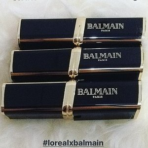 Can't wait to try these on.. 💋 #lorealxbalmain  #invinciblyworthit #couturetribe • • • • • #lipstick #collaboration #lipstickcollaboration #LorealParis #BalmainParis #favorite #brands #beauty #blogger #beautyblogger #bblogger #inspirations #love #like #beautiesID #beautybloggerid #clozetteid #lovelyasianbeauties #beautyenthusiasts #beautyjunkie #indonesianbeautyblogger #indobeautygram #instabeauty #instalike #instagood #aiachanbeautyjournal
