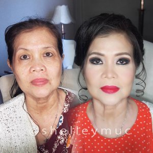 Makeup for Jesselee's Mom  #jesskarin #jesseleekarin  Makeup by @shelleymuc @shelleyssebastian  HairDo by @nandazaenal  #makeup #beauty #shelleymuc #surabaya #makeupartist #mua #shelleymakeupcreation #beforeafter #clozetteID #makeover #muasurabaya #muaindonesia #hairdo #soft #softmakeup #beautifulgirl #softsmokey #glammakeup #glamourmakeup #makeupartistsurabaya #surabayamakeupartist #correctivemakeup #mommakeup #maturemakeup